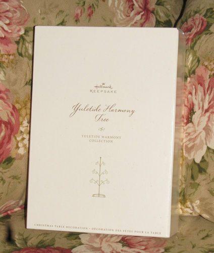 "2006 HALLMARK ""Yuletide Harmony Collection"" ~ Tree + all Six ( 6 ) Ornaments ~ NIB"