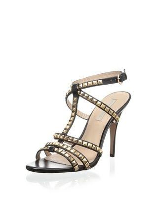 63% OFF Pura Lopez Women's T-Strap Sandal (Baby Calf Black)