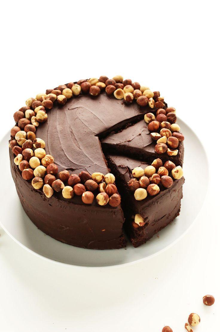 AMAZING Vegan Chocolate Hazelnut Cake! 1 bowl, SUPER RICH, and #glutenfree #dessert