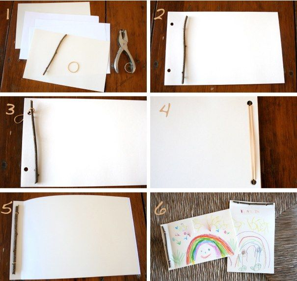 This is an easy and fun way to inspire the young writers in your life... Twig Book Tutorial & Inspiring Blank Book Links