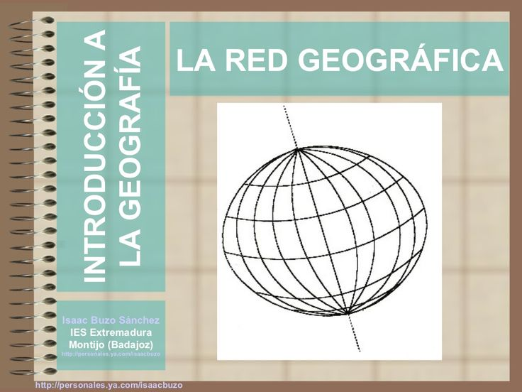 la-red-geogrfica by Isaac Buzo via Slideshare