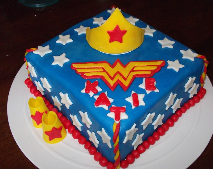 Wonder Woman Cake This Is A 12 Quot Square 2 Layer Cake