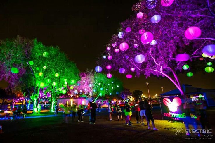 Glow run....i honestly hate running, but walking through this would be fun