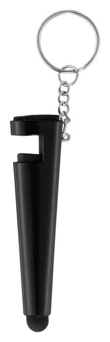 ЯНИС Брелок для ключей «3 в 1» — подставка,           стилус и щёточка для телефона, пластик.           Максимальный размер печати: 45 x 4 мм