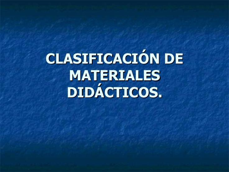 contiene descipción, ventajas y desventajas de algunos materiales didácticos.