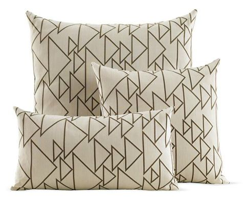 alexander girard pillows in his one way cream fabric.