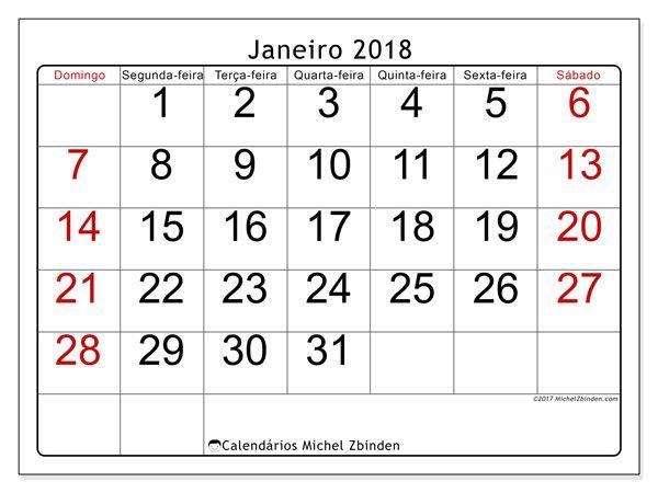 Calendario Janeiro 2018 62ds Calendario Julho Calendario Para