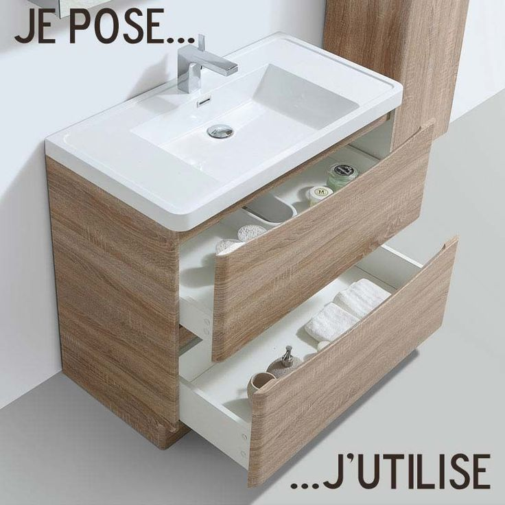 18 best Meuble salle de bain images on Pinterest Bathroom - photo meuble de salle de bain
