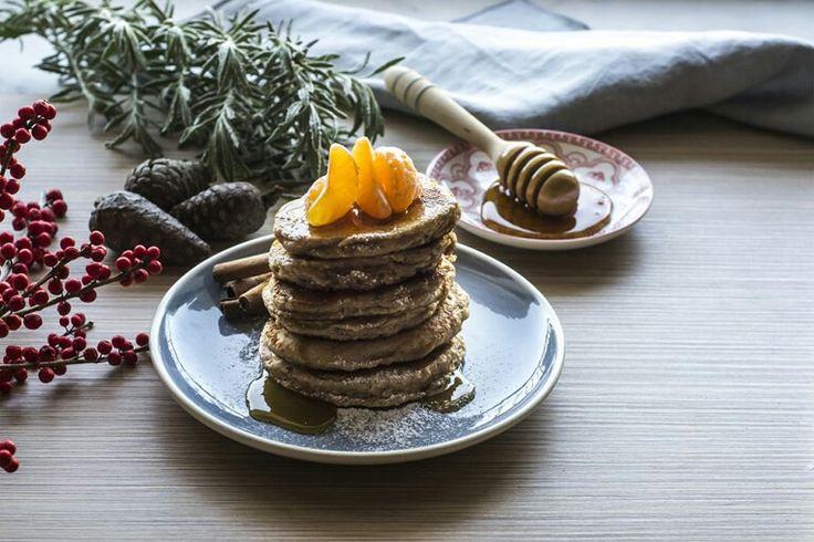 Winter spiced oat pancakes