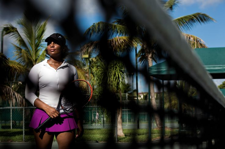 A once-promising star is giving tennis lessons instead of playing professionally because she can't afford a hip operation.