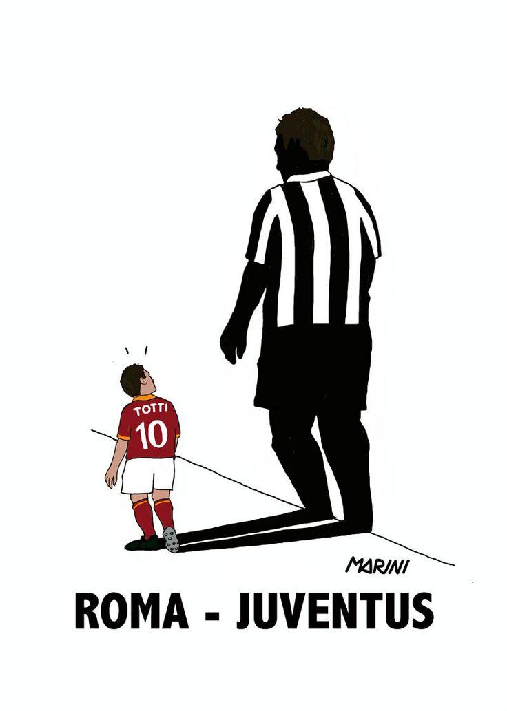 Roma - Juventus   @MariniCartoons