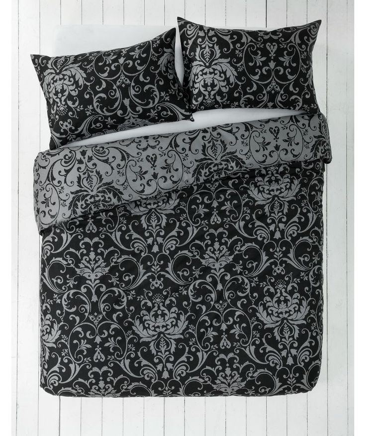 Buy Black and Grey Damask Bedding Set - Kingsize at Argos.co.uk - Your Online Shop for Duvet cover sets.