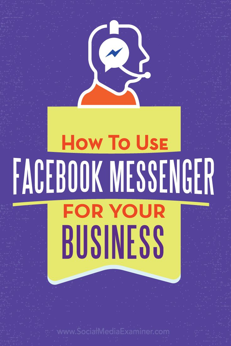 facebook business page and facebook messenger
