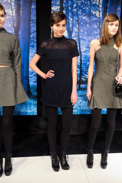 navy and black midi-dress combo, Charlotte Ronson Fall 2013
