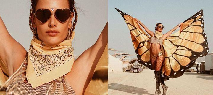 Η Alessandra Ambrosio έβγαλε φτερά στην έρημο Black Rock!