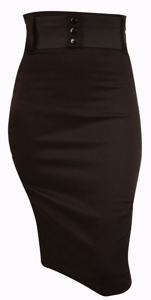 www.brokencherry.com Waist Belt Skirt  $52.00 The ever essential pinup pencil skirt.