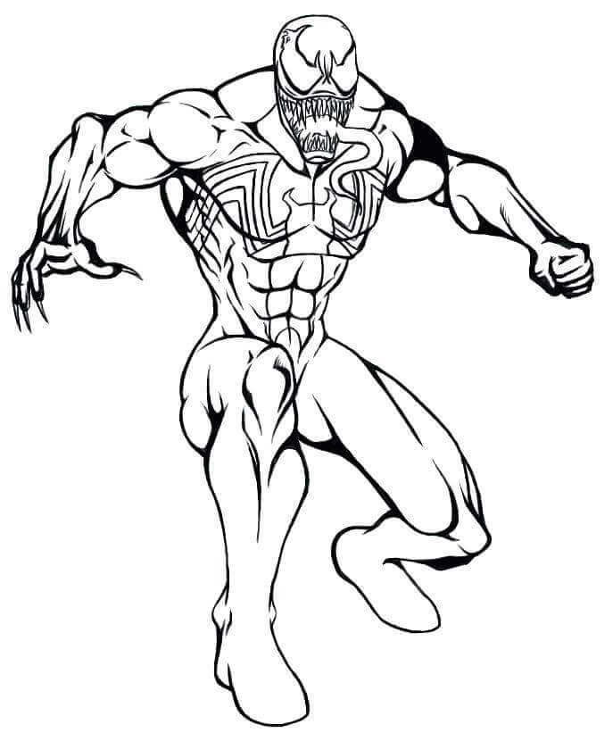 Venom Coloring Pages Printable Free A My Paint By Number