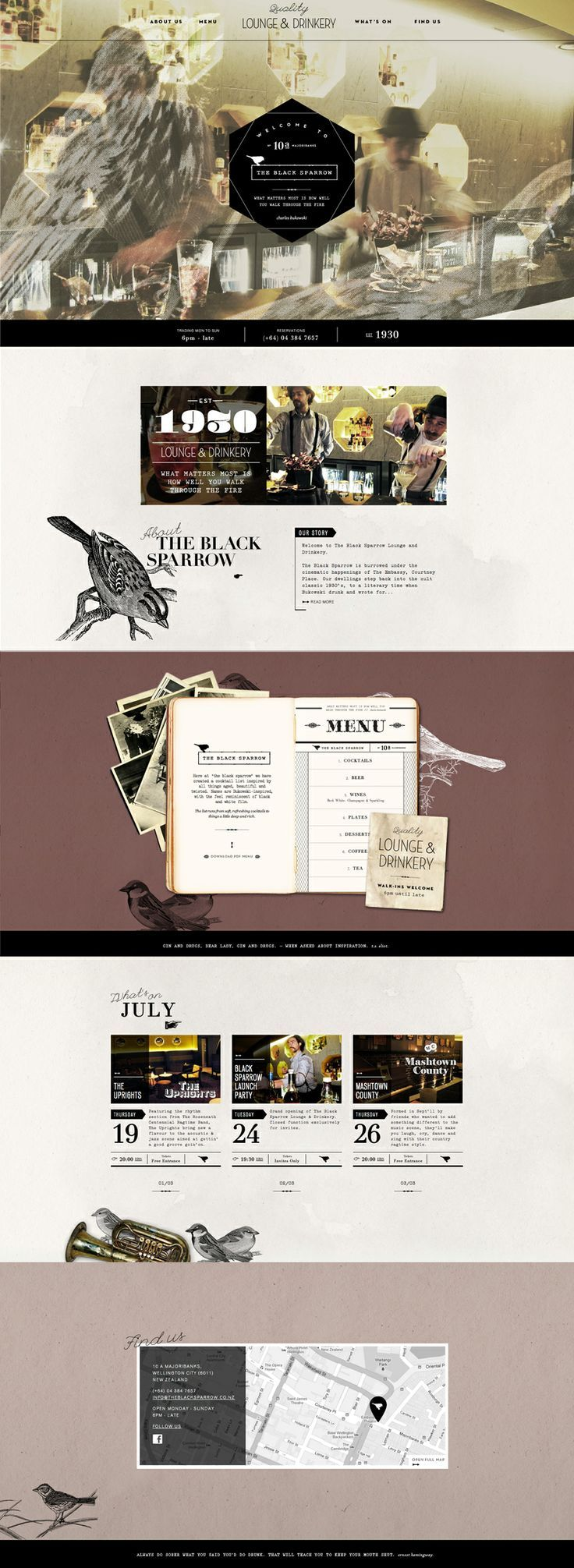 The Black Sparrow. Classic occasion. #webdesign (More design inspiration at www.aldenchong.com)