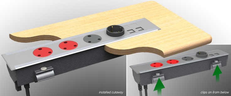 This modular aluminium-based workstation power outlet system allows the user to customize the number of power, voice/data, switches and protection devices (fuses, circuit breakers, filters etc.) according to their individual needs, as well as specify the bespoke layout and configurations. The housing is also available in a variety of finishes and colours. The Omega has been designed as a cost-effective, in-desk mounted solution available in standard power, dual power, or hybrid power…