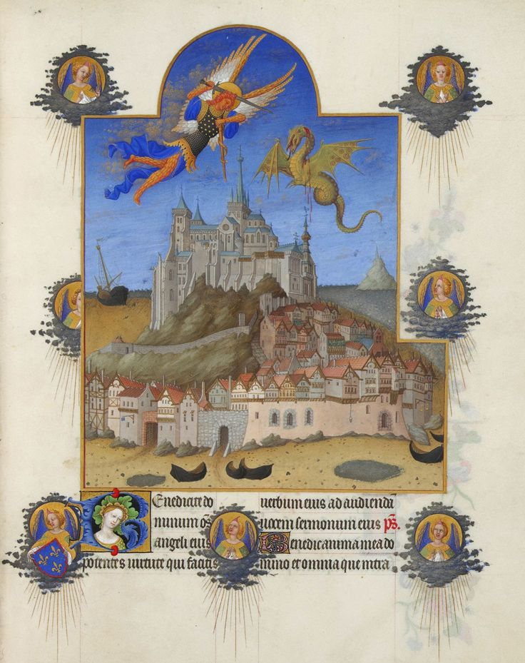 Limbourg brothers; Très Riches Heures du duc de Berry; The Mass of Saint Michael' 1411-1416; via Wikimedia Commons