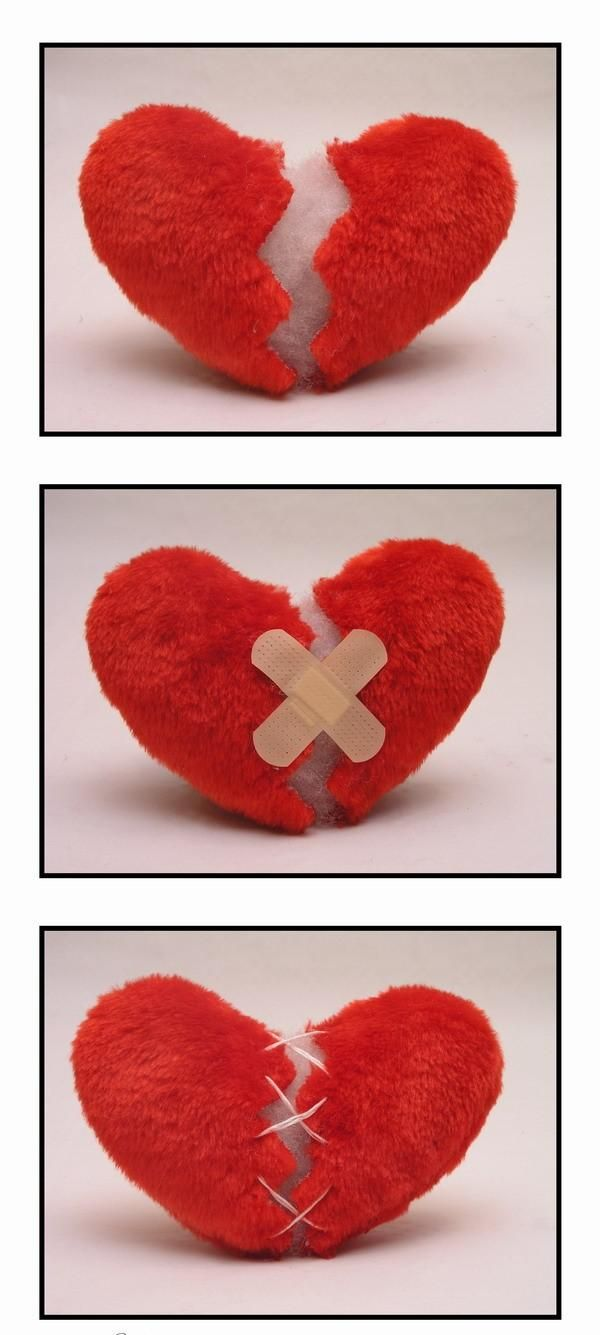 Broken Hearts Of Pillow Plush and soft yet so broken and sad, it's a broken heart pillow.