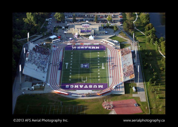 #London #Western #UWO #University of Western Ontario #aerialphotography , Mustangs, TD Waterhouse Stadium