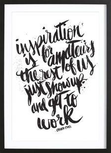 inspiration is for amateurs - Matthew Taylor Wilson - Affiche sous cadre en bois