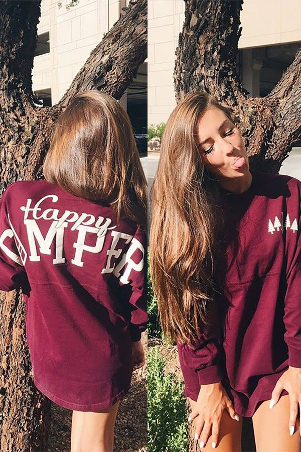 Taylor Alesia is the happiest camper in this super comfortable long sleeve Happy Camper Spirit Jersey.