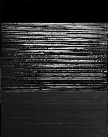 Pierre Soulages - Exhibitions - Dominique Levy Gallery // Black painting