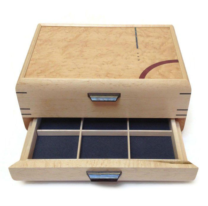 Mikutowski Woodworking Birdseye Maple Jewelry Box