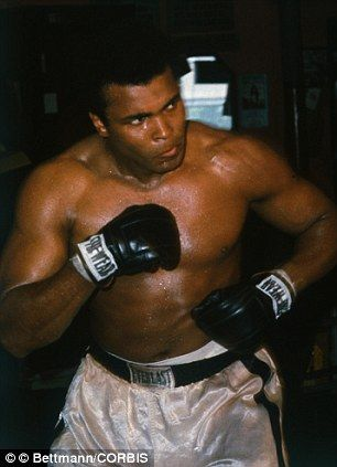 Muhammad Ali. Building up a sweat.