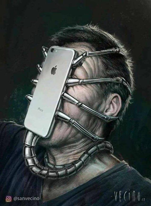 Modern Day Monster Phonesarebad In 2020 Satirical