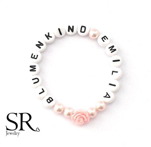 Blumenmadchen Armband Armband Fur Ein Blumenkind Zur Hochzeit Etsy Armband Hochzeit Blumenmadchen Armband Rosa