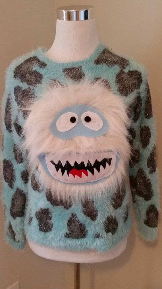 84 best tacky holiday sweaters images on pinterest la la la merry ugly christmas sweater yeti abominable snowman by uglysweatersforu diy solutioingenieria