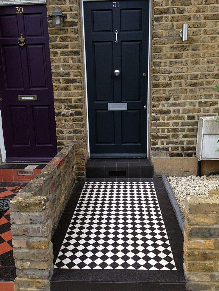 black-and-white-victorian-mosaic-tile-path.jpg (768×1024)