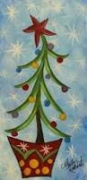 Image result for easy christmas painting on canvas