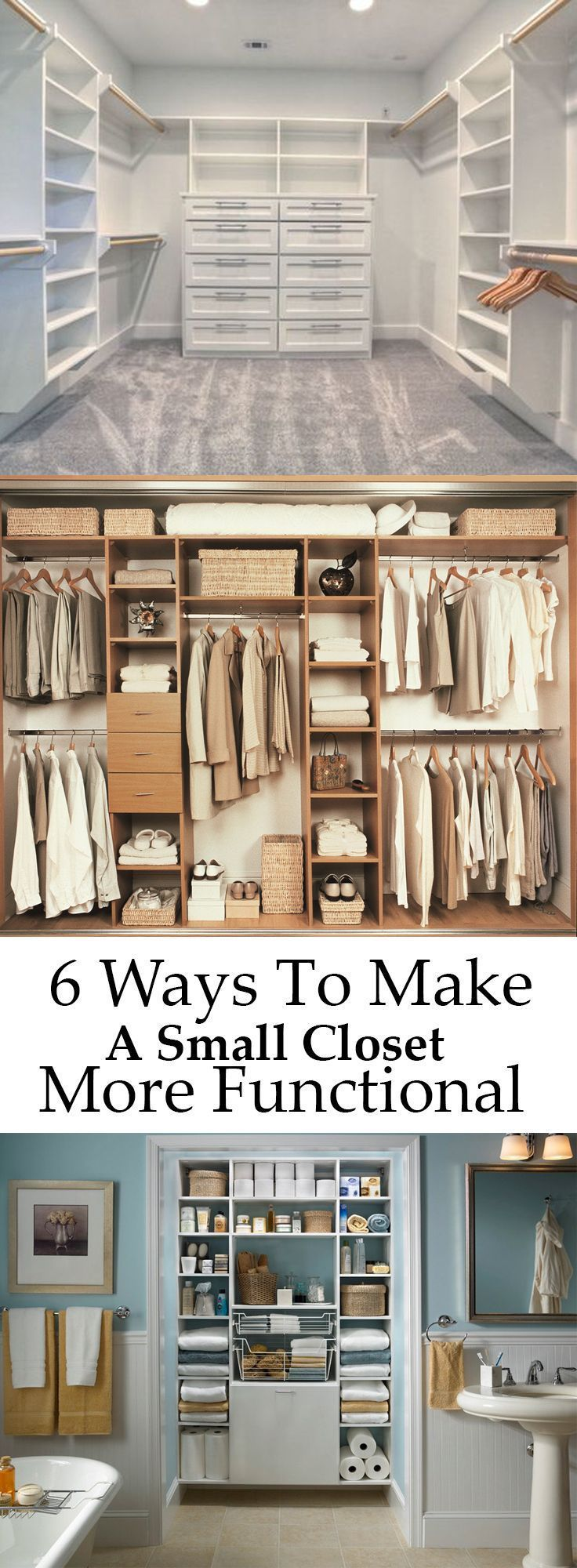 6 ways to make a small closet more functional diy plans - How to create a closet in a small bedroom ...