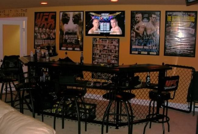 small man cave ideas | 10 Essentials for a UFC Themed MMA Man Cave | Bleacher Report