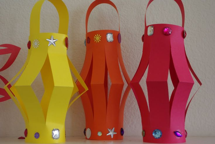 homemade Chinese Decorations  | First we started by making these paper lanterns out of colored ...