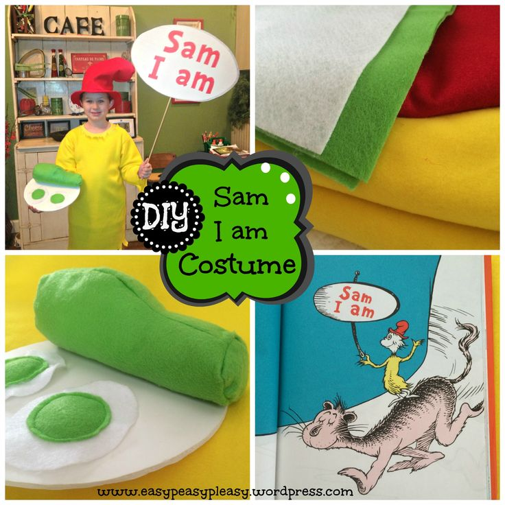 Looking for an easy DIY Dr. Seuss costume idea? This DIY Sam I am Costume is extremely easy with lots of pictures to guide you.