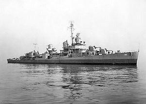 USS Terry (DD-513) Fletcher-class destroyer named for Commander Edward Terry, (1839-1882).