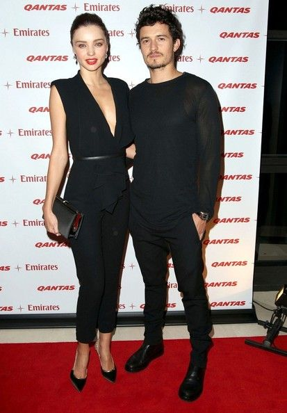 Miranda Kerr - Miranda Kerr and Orlando Bloom Promote an Airline