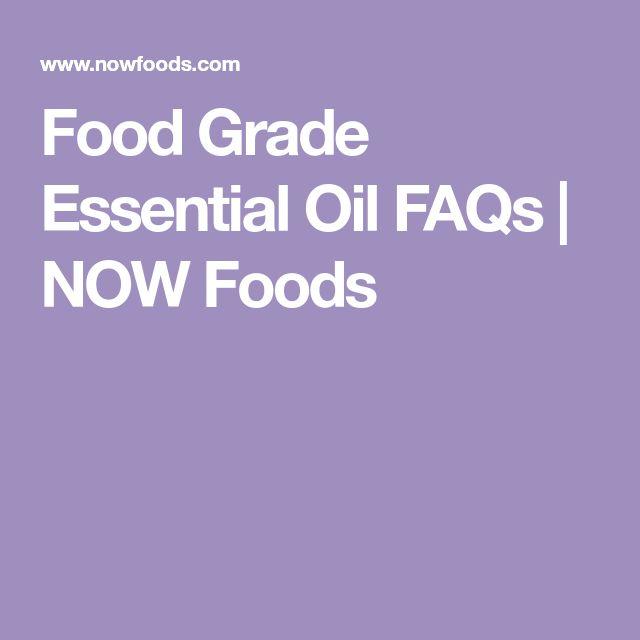 Food Grade Essential Oil FAQs | NOW Foods
