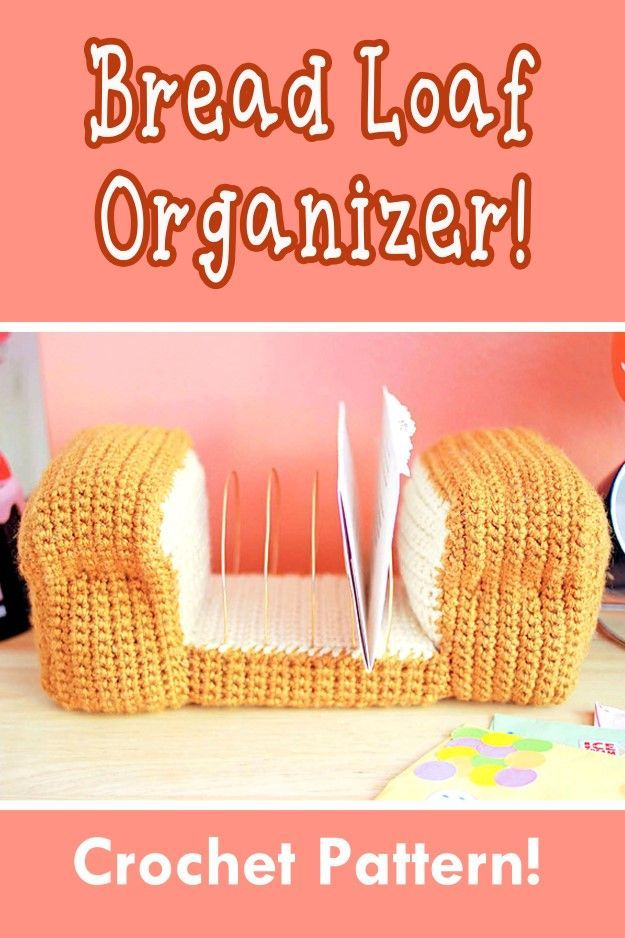 Bread Loaf Letter Organizer Crochet Pattern Home Decor Crochet Pattern Cute Crochet Funky Crochet Pattern Decorativ Crochet Home Decor Crochet Home Crochet