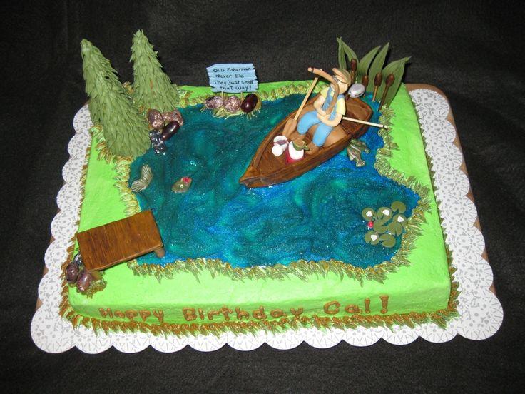 Birthday Cakes For Men Fishing Birthday Cake Pound Cake