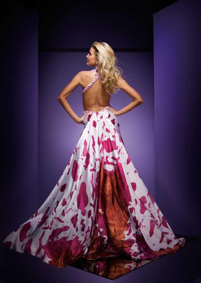 Pink and Orange Formal Dress - Paris Prom Dress 110730