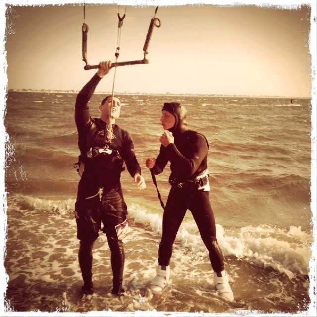Thanks to Pavel for helping me set up the wakeboard. Today was nice kitesurfing session at plumb beach new york!