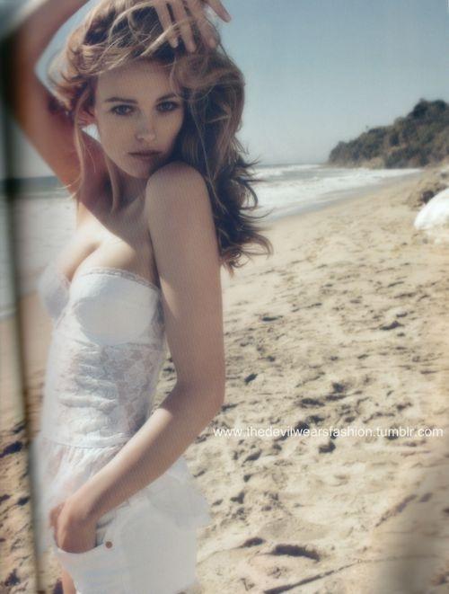 pretty in white on the beach