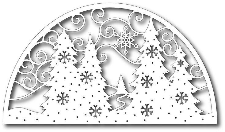 Tutti Designs - Cutting Die - Fir Trees Arch Scene,$12.99
