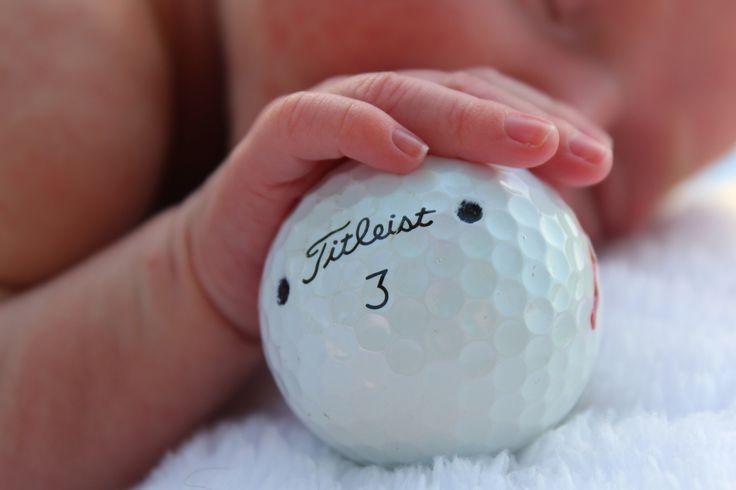 Newborn golf pictures